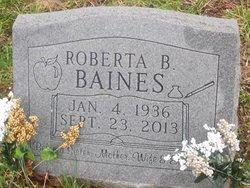 Roberta <I>Bennett</I> Baines