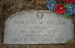 PFC Gordon W Ballam