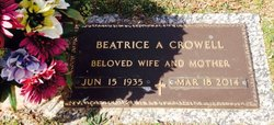 Beatrice Ann <I>Brownell</I> Crowell