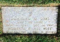 """Maj Durward Marion """"Dag"""" Sims"""