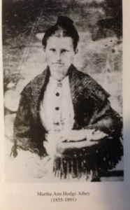 "Martha Ann Singleton ""Mattie"" <I>Hodge</I> Athey"