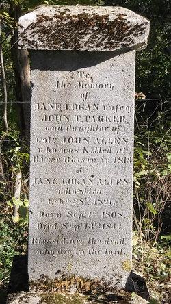 Jane <I>Logan</I> Allen