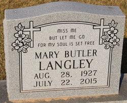 Mary <I>Butler</I> Langley
