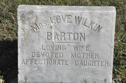 Love Harriett <I>Wilkin</I> Barton