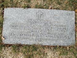 Norine Evangeline <I>Valentine</I> Karathanasis