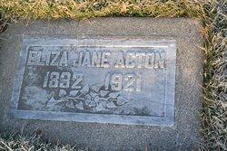 Eliza Jane <I>Gilliland</I> Acton