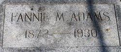 Fannie M Adams
