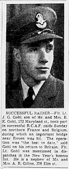 Flight Lieutenant James Garfield Gohl