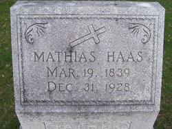 Mathias Haas mathias haas 1839 1928 find a grave memorial