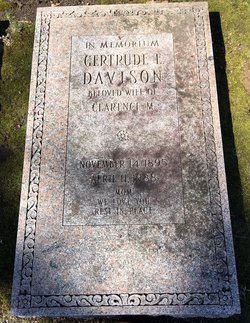 Gertrude E <I>Schenck</I> Davison