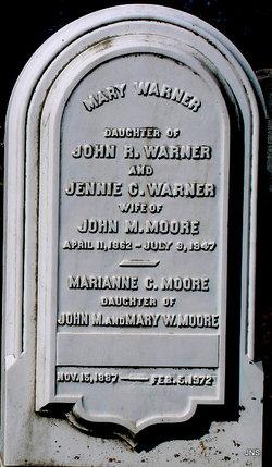 Mary <I>Warner</I> Moore