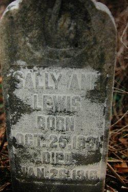 """Sarah Ann """"Sally"""" <I>Settle</I> Lewis"""