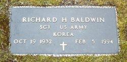 Sgt Richard H Baldwin