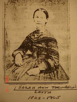 Sarah Ann <I>Thompson</I> Latta