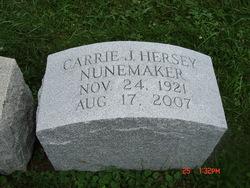 Carrie Jane <I>Reaney</I> Hersey Nunemaker