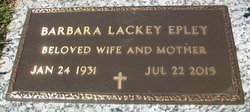 Barbara <I>Lackey</I> Epley