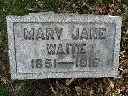 Mary Jane <I>Oswald</I> Waite