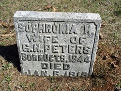 Sophronia M <I>Hess</I> Peters