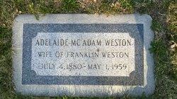 Adelaide <I>McAdam</I> Weston