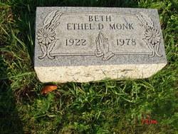 "Ethel D ""Beth"" Monk"