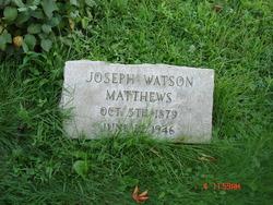 Joseph Watson Matthews