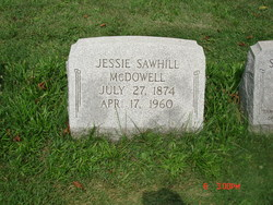 Jessie <I>Sawhill</I> McDowell