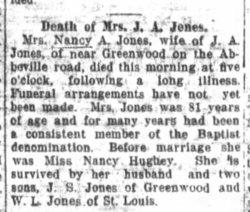 Nancy Ann <I>Hughey</I> Jones