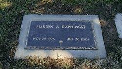 Marion A <I>Albert</I> Kaphingst