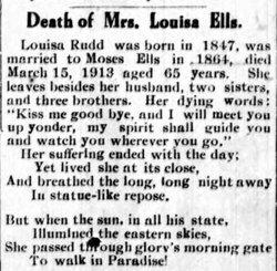 Louisa <I>Rudd</I> Ells