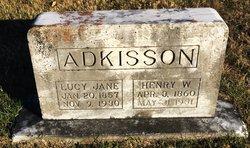 Lucy Jane <I>Coleman</I> Adkisson