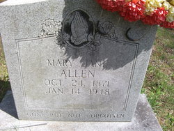 Mary Jane <I>Mead</I> Allen