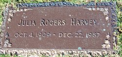 Julia <I>Rogers</I> Harvey