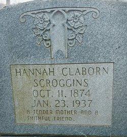 Hannah <I>Claborn</I> Scroggins