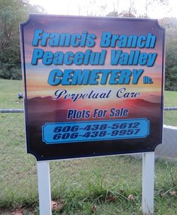 Francis Branch Peaceful Valley Cemetery