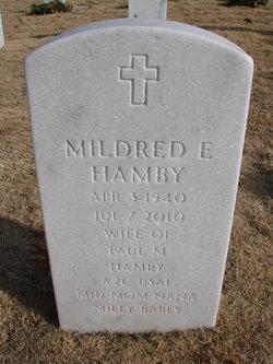 "Mildred E ""Milly"" <I>Fields</I> Hamby"