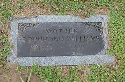 Sophronia Euretta <I>Hutto</I> Williams