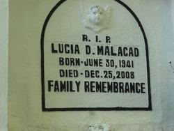 Lucia D Malacad