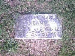 "Martha Isabelle ""Mamie"" <I>Marlin</I> Adams"