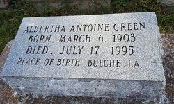 Albertha <I>Antoine</I> Green