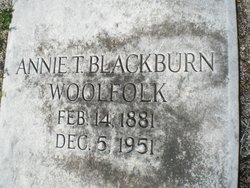 Annie T. <I>Blackburn</I> Woolfolk