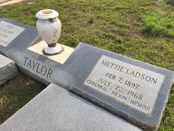 Mettie May <I>Ladson</I> Taylor