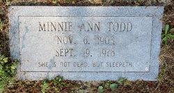 Minnie Ann <I>Todd</I> Todd