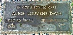 Alice Louvene <I>Zimmerman</I> Davis