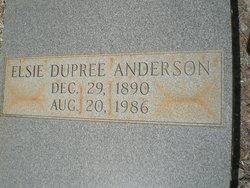 Elsie <I>Dupree</I> Anderson