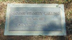 Maxine Grace <I>Stanley</I> Balling