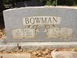 Agnes Cleo <I>Jones</I> Bowman