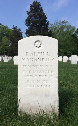 PVT Ralph L Markowitz