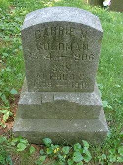 "Caroline M ""Carrie"" <I>Reed</I> Goldman"