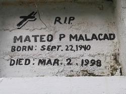 Mateo P Malacad