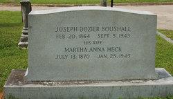 """Martha Anna """"Mattie"""" <I>Heck</I> Boushall"""